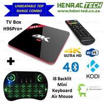 Android TV Box, Combo H96Pro+ & i8 Backlit Keyboard