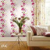 New arrival Wallpaper designs and colors. For Installation call us..