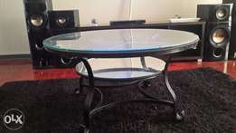 a glass centre table for sale.