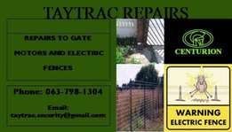 gate motor and electric fence repairs