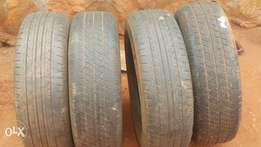 4 tyres for sale. 2 firestone and 2 good year.