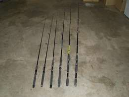 Various fishing rods