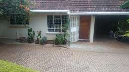 3 bedroomed master ensuit bungalow to let in springvalley, westlands.