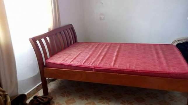 Wooden bed with mattress Ngara - image 5