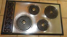 DEFY 4 Spiral Plate Stainless Steel Electric Hob