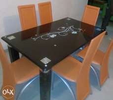 New top quality glass dining table by 6