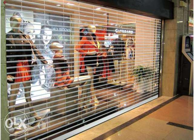 Polycarbonate Transparent rolling shutters for malls and shops