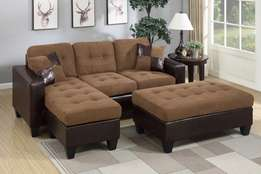 A custom made 5 seater with ottoman in this design made on order