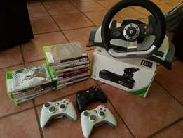 Xbox 360 320Gb+Steering Wheel+26 Games