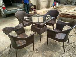 Rattan 4 seater outdoor door dinning set