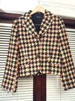 Stunning checked jacket - brand new - bought UK - R100