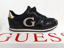 eb2f2b52029b3 Sneakersy GUESS platforma czarne brokat trampki tenisówki 37