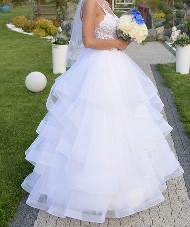 Groovy Suknia ślubna- falbany rozm 36 Kluczbork • OLX.pl RI96