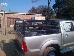 Toyota Hilux double cab cattle rail