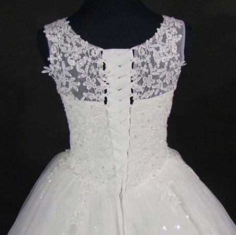 Suknia ślubna Princessa Koronka Wiązanie 36 38 40 42 44 46 48
