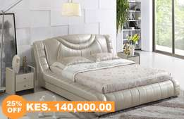 7x6 King Leather Bed Offer