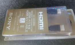 Sony HDMI cables 2m, new in shop free delivery.
