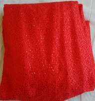 Red Sequenced Padded Sample Lace - 5 yards