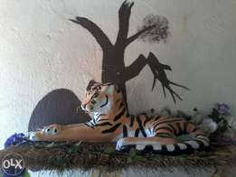 Sculpture of a tiger