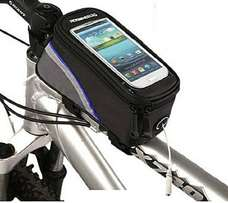 "ROSWHEEL Cycling Bicycle Waterproof Frame Pannier Front 5.5"" Cell Phon"