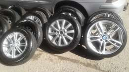 "Various tyres and rims ranging from 13"" to 18""."