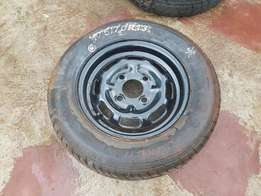 Tyre with Rim. Size 13. 4hole.