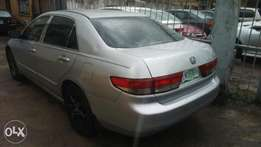 Very clean Honda accord EOD 2003 model nothing to fix