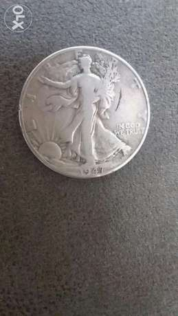 USA Half Dollar Silver Walking Liberty year 1947 12,5g Silver 30mm Di