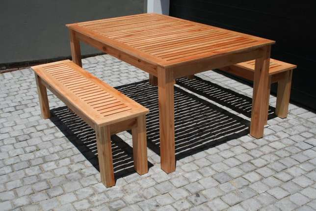 Saligna Patio Table & Benches Walmer - image 4