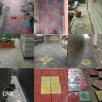 Coloured paving block's