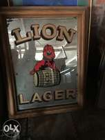 Bar, bar mirror , lions rugby, collectors