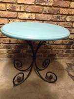 Wrought iron side tables