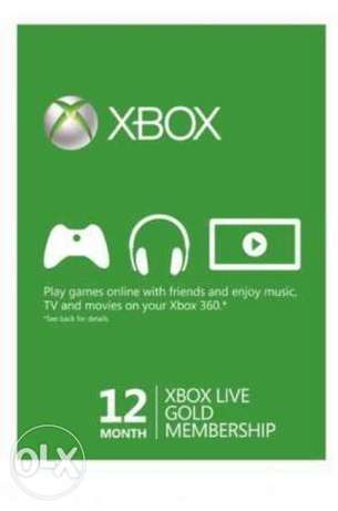Xbox live 12 month & 3 month+ 1 month 100 game free