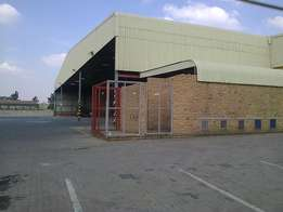 3000m2 truck yard with 3000m2 warehouse to let in Alrode