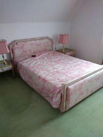 Kompletna Sypialnia łóżko Toaletka Lampy Stolik Ludwik