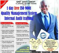 Free!!! ISO 9001 Quality Management System Audit training in IBADAN