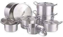 7 pieces medium duty sufuria with lids