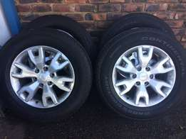 "set of ford ranger wildtrack mags 4x18"" with tyres"