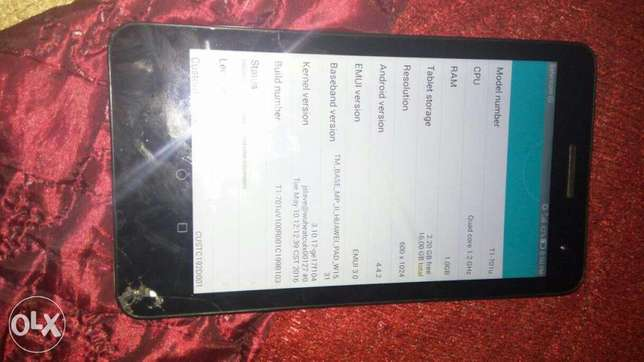 Huawei T1 701u tablet,16gb internal cracked but working perfectly Kihara - image 3