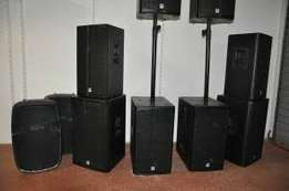PA sound system set up for all functionz