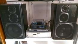 Speakers and an amplifier