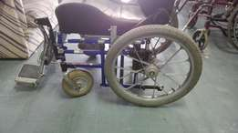 Black and blue wheelchair