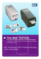 Star TCP400 Card Printer Serial, USB or Ethernet Interface (ID card)