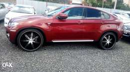 BMW X6 3.0si automatic with pedal shifts 2010 wine red model