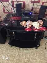 Glass TV Stand and Glass Table both at 5,000/= Only As Good as New