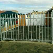 Palisade fencing and swing gates