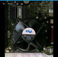Intel Celeron CPU with heatsink and fan