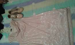 Shoes size 7 and dress 18 lady evening wear
