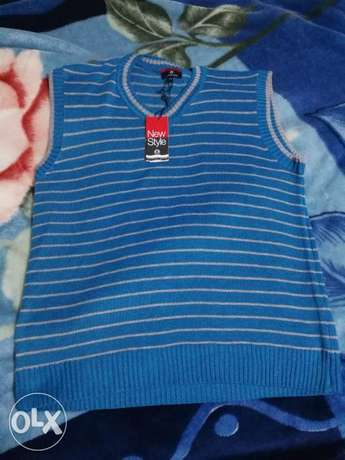 New Blue Gilet Sweater Large size