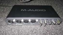 M-audio fast track ultra 8in 80ut with midi and spdif.